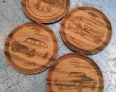 Classic Alfa Romeo Coasters - set of 4 - hardwood