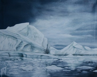 Ice - Winter painting