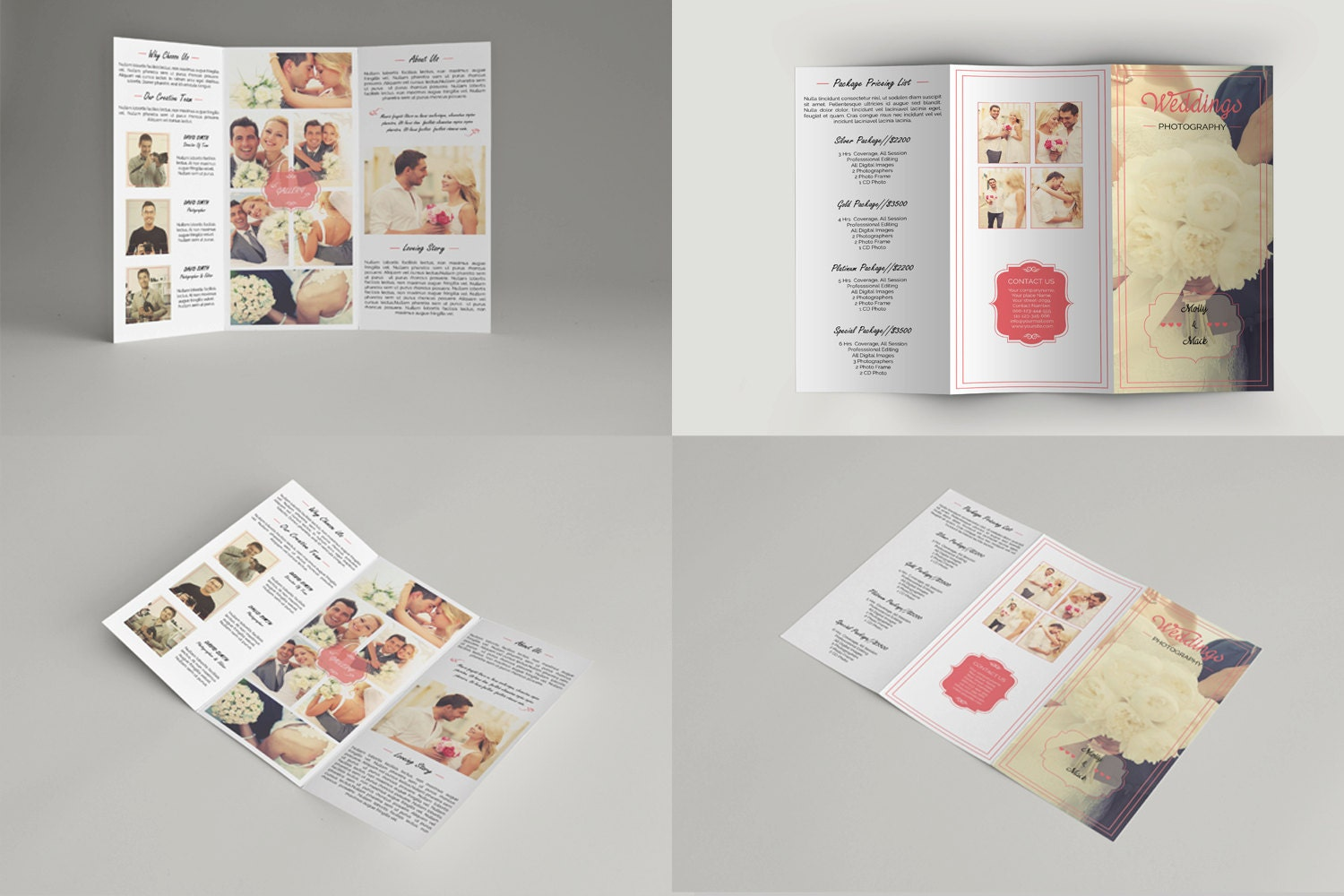 Wedding photography brochure template trifold by templatestock for Wedding photography brochure template