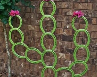 Saguaro Horseshoe Cactus  Horseshoe Yard Art