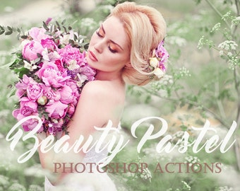 20 Beauty Pastel photoshop actions, Photoshop actions, wedding actions, kids actions