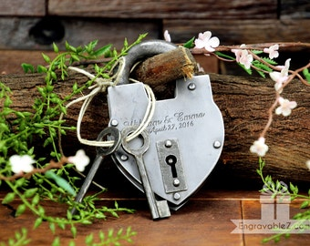 Custom Hand-Forged Love Lock