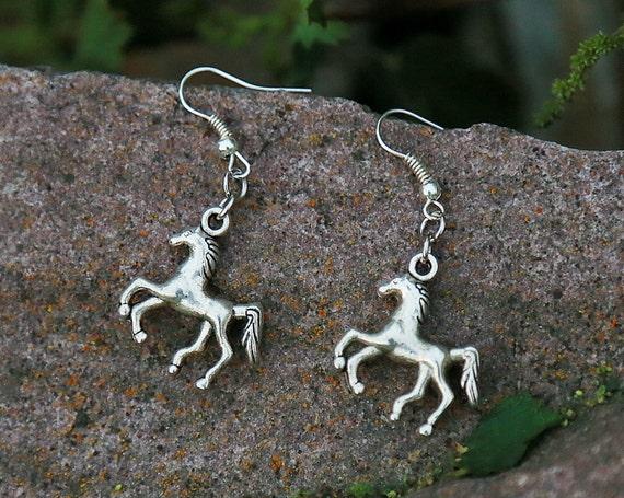 gift for mom Horse Earrings Horse Jewelry Equestrian Arabian Girls Gift for sister mom