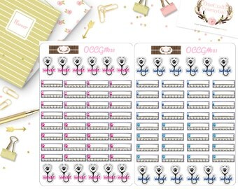 Pet Tracker Planner Stickers, Pets,Planner Stickers, [OCCG#031]