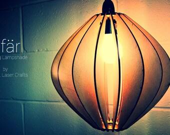 Sfär Design Laser Cut Wooden Hanging Lamp Shade