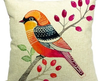 All kinds of birds with different styles cushion cover, throw pillow cover