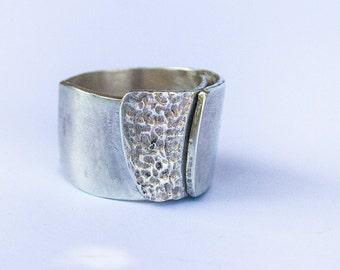 Silver ring, handmade