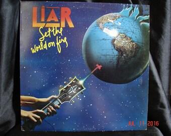 Liar Set The World On Fire Bearsville K 55524 UK Pressing