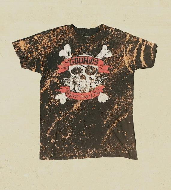 Vintage custom goonies acid washed t shirt by for Custom acid wash t shirts