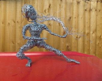 Wire Sculpture, Handmade Woman