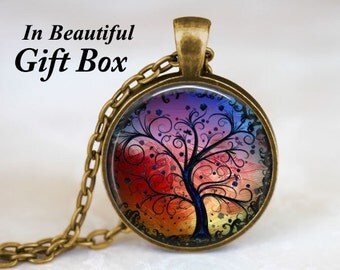 Tree Necklace Whimsical Fantasy Tree of Life Bronze Tree Of Life Necklace Pendant Woodland Jewelry Gift for Her Gift For Mom Birthday Gift