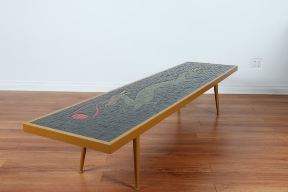 Dragon Tile Top Coffee Table