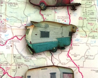 Vintage Trailer Magnet Set/3