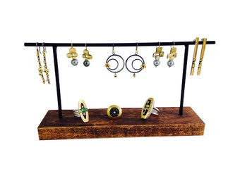 Earring display, earring stand, craft show display, store display, jewelry stand E106