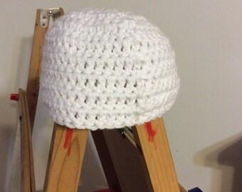 Newborn crochet hat white