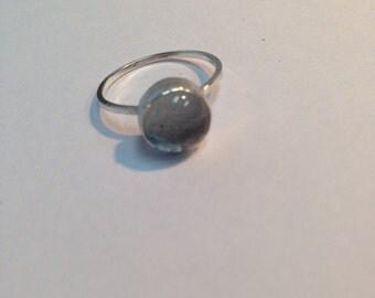 Small stacking cabochon rings