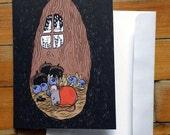 Carte de souhaits - Petite souris