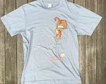 Vintage 90's Disney Winnie The Pooh Tigger Basketball Oversized Slouchy Hipster T-shirt Retro Disney Disneyland Normcore Medium Tigger Tee