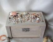 Beach Side Wedding Ring Bearer Pillow Box Rustic Style Keepsake Box Alternative Ceremony Ring Holder Sea Shell Gift Box Seaside Jewelry Box