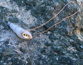 Evil Eye Rose Gold Necklace