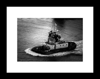 Black and White Boat Photography Travel Inspiration Wall Decor Wall Art