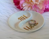 His and Hers Ring Dish, Mr and Mrs Jewelry Holder, Jewelry Dish, Engagement Gift