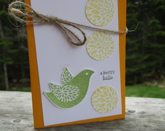 Happy Hello bird card
