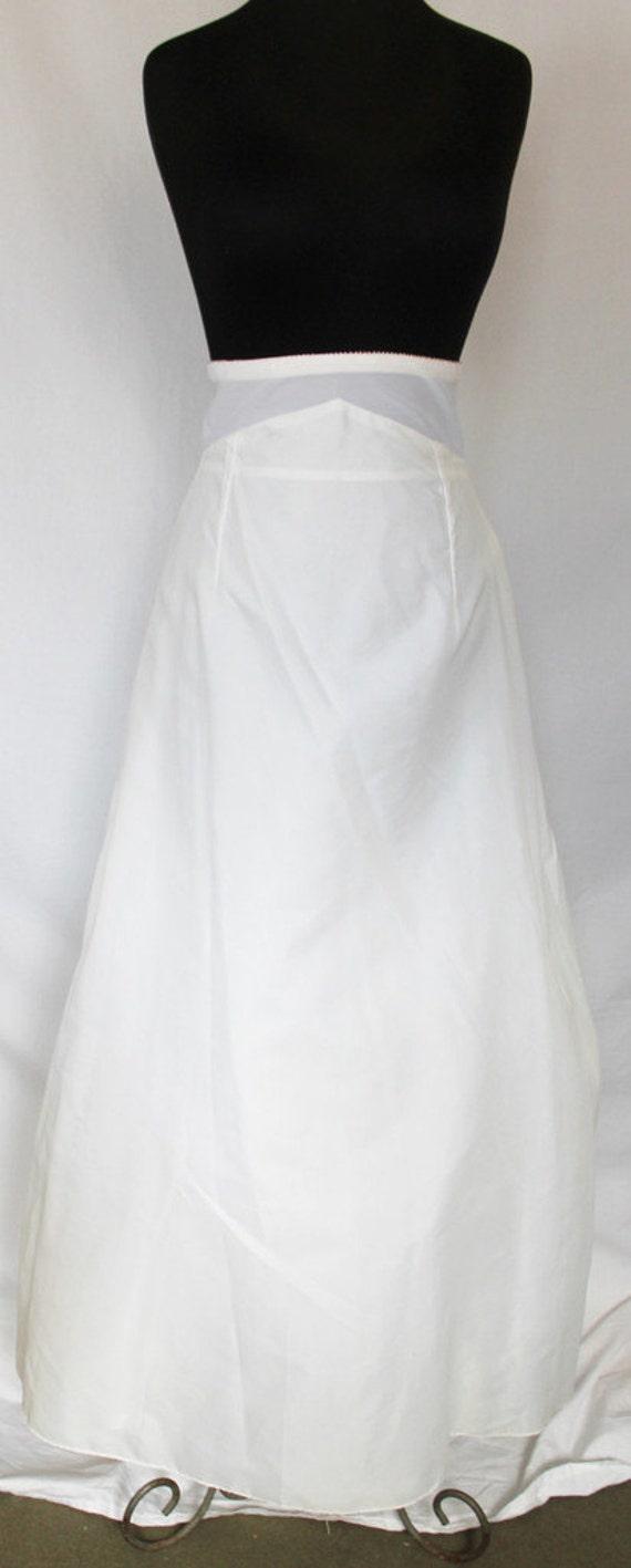Items similar to vintage slip full length slip white for Full length slip for wedding dress
