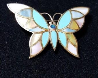 Butterfly Pin Brooch .925 Sterling silver