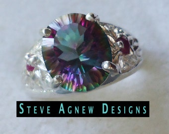 Mystic Topaz and Ruby Ring
