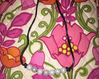 7 Pearl Leather Necklace