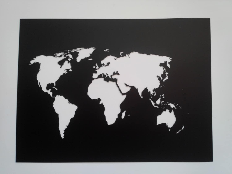 World Map Stencil Plastic reusable Painting art supply wall art Custo
