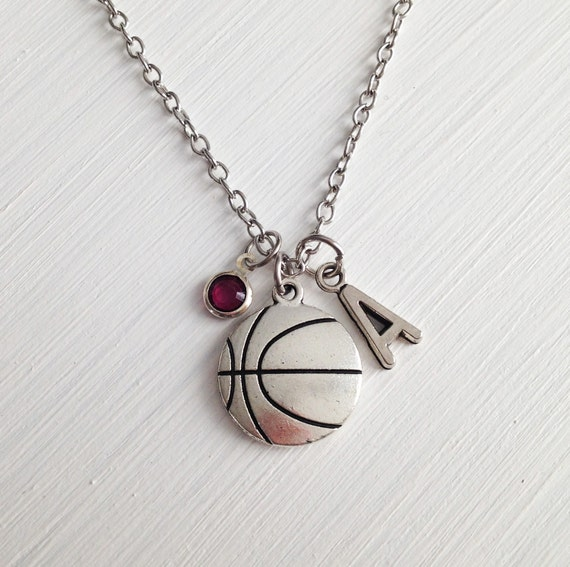 Basketball Necklace Silver Basketball Charm Sport Necklace. H1 Color Diamond. Special Rings. Oval Pendant. Crescent Moon Necklace