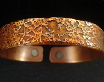 Copper Magnetic Health Band Bracelet  ' Forest Floor'