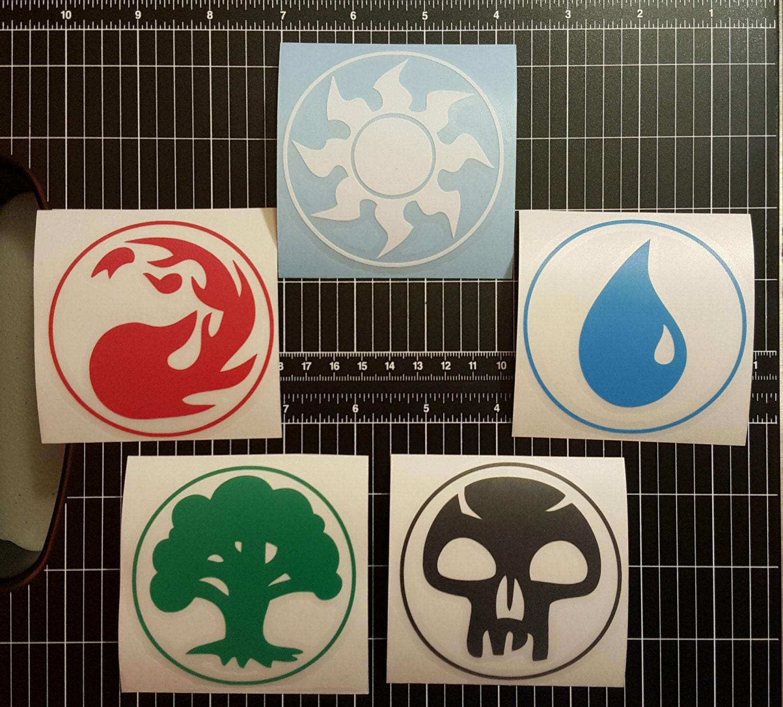 New On Etsy Mtg Mana Symbol Multipack Or Individual Vinyl Decal