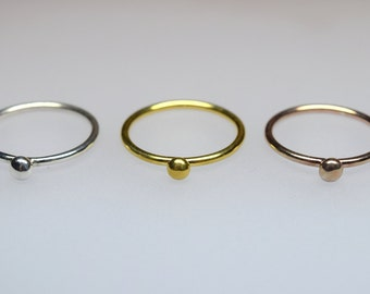 Polka dot Ring/Dot Ring (LESS IS MORE/Stackingrings/Minimalstische Minimalstic stack rings)