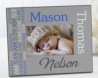 Darling Baby Boy Personalized Picture Frame