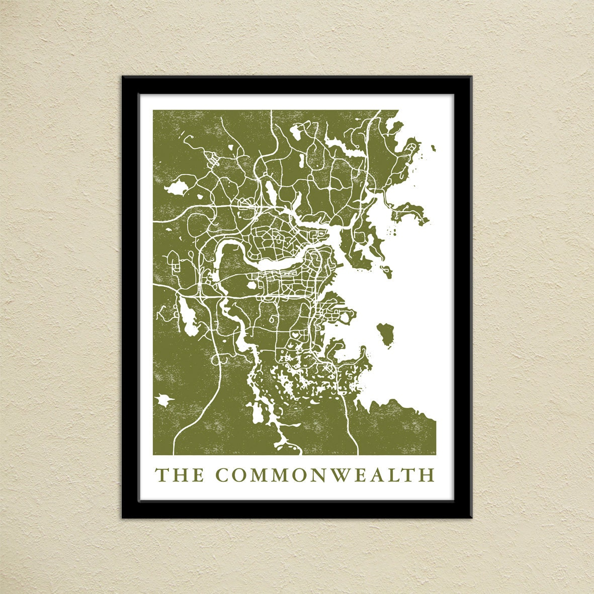 Fallout 4 the commonwealth map print gamer christmas present zoom sciox Choice Image