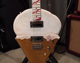 A Custom Shaped Guitar built for a Chef!!!