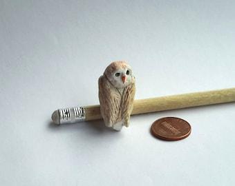 miniature owl, clay owl, owl figurine, miniature owl figurine, collectable, terrarium miniature decoration, fairy house, tiny owl, cute, owl