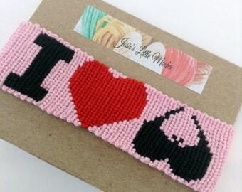 I love boobies / Cancer awareness bracelet / Breast cancer awareness bracelet / Handmade bracelet / embroidery thread bracelet /