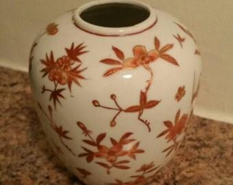 70's Japanese handpainted vase.