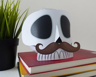 Skull paper craft for decoration, skull decor, halloween decoration, DIY, Mexican skull decoration