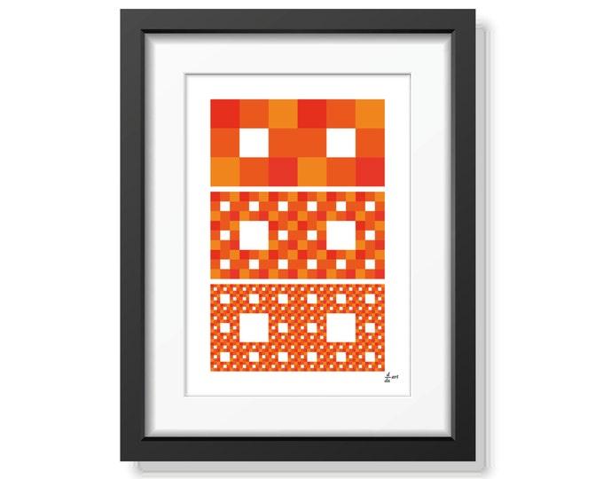 Fractal rectangles 07 [mathematical abstract art print, unframed] A4/A3 sizes