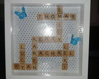 "Personalised Scrabble Frame 9"" x 9"""