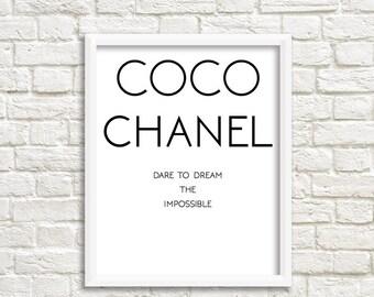 coco chanel print coco chanel art coco chanel party coco channel coco chanel bridal shower Coco Prints Chanel party decor