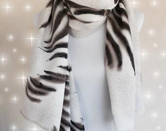 Zebra Print Scarf , Womens Scarves, Spring Scarf, Fashion scarf, Boho scarf, Scarf Shawl, Women's Accessories, Gifts For Her
