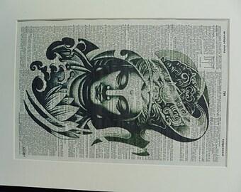 Buddha Wall Print No.297, buddha wall art, buddha print, buddha, buddha wall decal, buddah statue, buddha painting