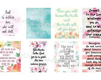bible scripture planner stickers - ERIN CONDREN planner stickers - bible journaling - bible verses stickers - life planner - eclp - SET B