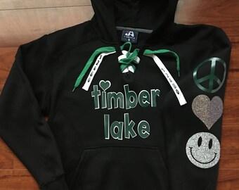 Lace Camp Hoodie Sweatshirt